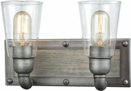 ELK 14471-2 Platform Contemporary Weathered Zinc 2-Light Bathroom Lighting Fixture
