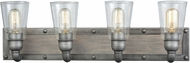 ELK 14473-4 Platform Contemporary Weathered Zinc 4-Light Vanity Light