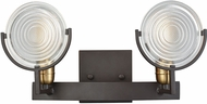 ELK 14501-2 Ocular Contemporary Oil Rubbed Bronze,Satin Brass 2-Light Bath Light Fixture