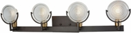 ELK 14503-4 Ocular Contemporary Oil Rubbed Bronze,Satin Brass 4-Light Bathroom Light Fixture