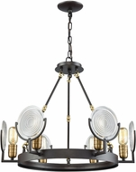ELK 14504-6 Ocular Modern Oil Rubbed Bronze,Satin Brass Chandelier Light