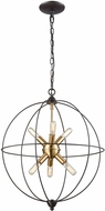 ELK 14511-6 Loftin Contemporary Oil Rubbed Bronze,Satin Brass Mini Chandelier Lighting
