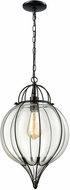 ELK 14521-1 Adriano Contemporary Gloss Black Drop Ceiling Lighting