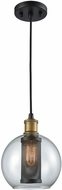 ELK 14530-1 Bremington Contemporary Oil Rubbed Bronze,Tarnished Brass Mini Ceiling Pendant Light