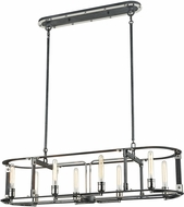 ELK 15235-8 Riveted Plate Contemporary Silverdust Iron / Polished Nickel Kitchen Island Lighting