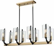 ELK 15317-8 Blakeslee Modern Matte Black / Satin Brass Kitchen Island Lighting