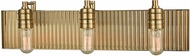 ELK 15942-3 Corrugated Steel Modern Satin Brass 3-Light Bath Sconce