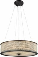 ELK 15971-6 Glass Beads Oil Rubbed Bronze Drum Pendant Lamp