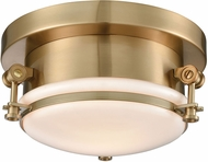 ELK 16092-1 Riley Contemporary Satin Brass 10  Overhead Lighting