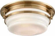 ELK 16094-3 Riley Contemporary Satin Brass 15  Flush Mount Lighting Fixture