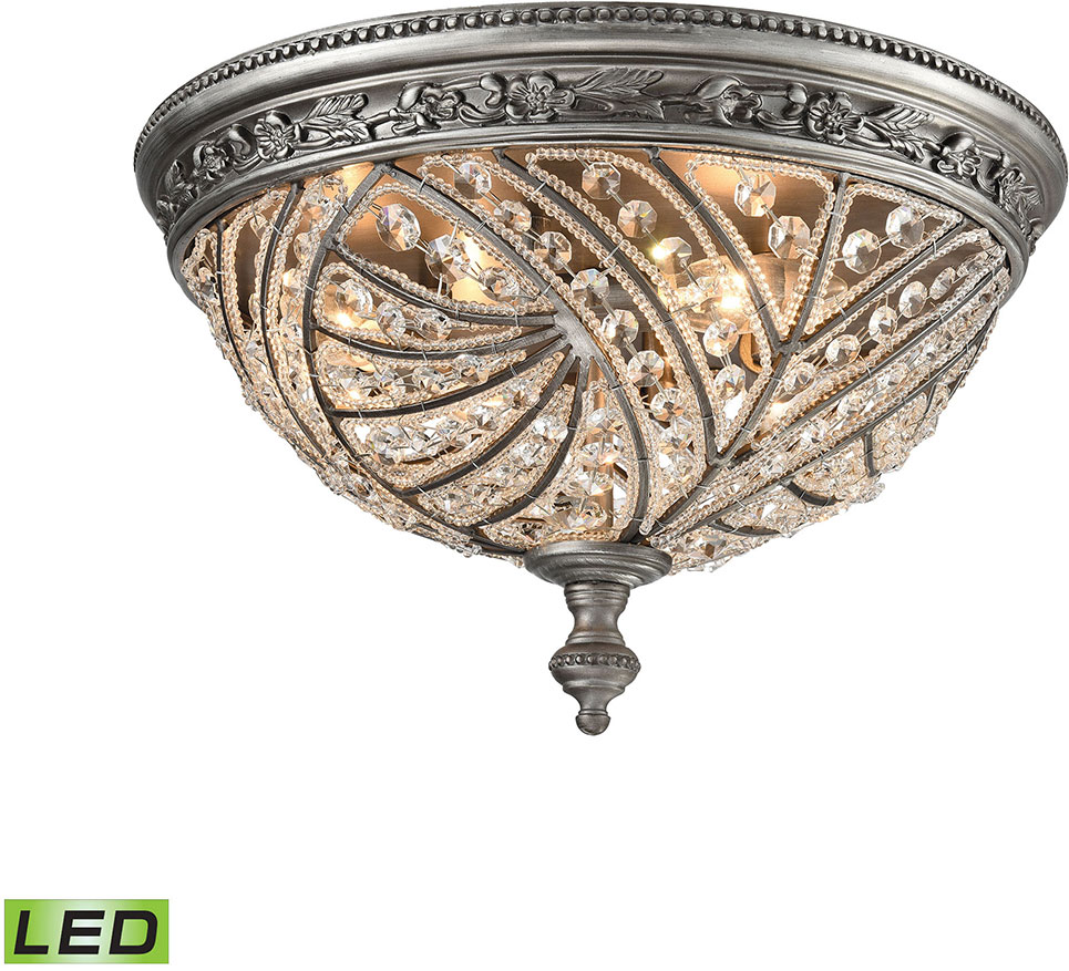 Elk 16250 4 led renaissance weathered zinc led flush mount light elk 16250 4 led renaissance weathered zinc led flush mount light fixture loading zoom arubaitofo Image collections