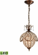 ELK 16260-1-LED Jubilee Spanish Bronze LED Mini Hanging Pendant Lighting