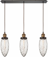 ELK 16310-3LP Owen Modern Oil Rubbed Bronze Antique Brass Multi Pendant Lamp