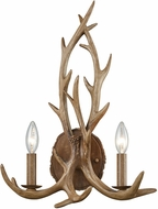 ELK 16313-2 Elk Country Wood Brown Lighting Sconce