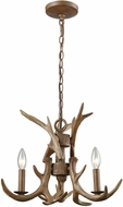 ELK 16314-3 Elk Rustic Wood Brown Mini Chandelier Light