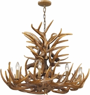 ELK 16316-9 Elk Rustic Wood Brown Lighting Chandelier
