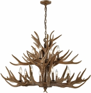 ELK 16317-8-4 Elk Rustic Wood Brown Hanging Chandelier