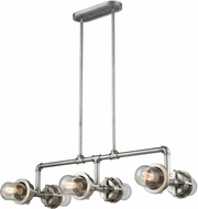 ELK 16504-6 Briggs Contemporary Weathered Zinc / Satin Nickel Kitchen Island Lighting
