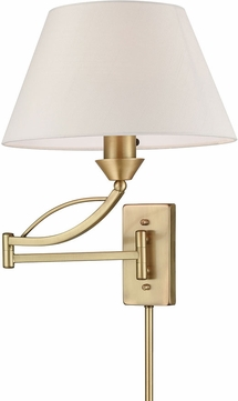 ELK 17046-1 Elysburg French Brass Wall Swing Arm Lamp