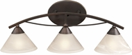 ELK 17642-3 Contemporary Oil Rubbed Bronze 3-Light Bathroom Lighting Sconce