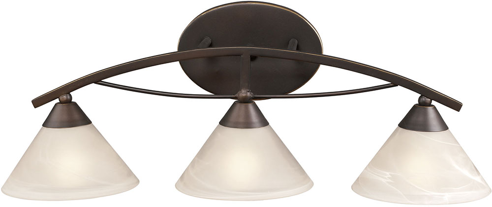 ELK 17642 3 Contemporary Oil Rubbed Bronze 3 Light Bathroom Lighting  Sconce. Loading Zoom