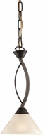 ELK 17644-1 Contemporary Oil Rubbed Bronze Mini Pendant Light Fixture