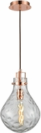 ELK 17661-1 Dewdrop Modern Polished Copper Mini Pendant Hanging Light
