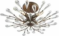 ELK 18241-4 Crislett Sunglow Bronze Flush Mount Light Fixture