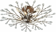 ELK 18242-8 Crislett Sunglow Bronze Flush Mount Lighting Fixture