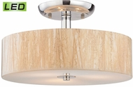ELK 19038-3-LED Modern Organics Polished Chrome LED Flush Mount Lighting Fixture