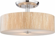 ELK 19038-3 Modern Organics Polished Chrome Flush Mount Light Fixture