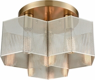 ELK 21111-3 Compartir Contemporary Polished Nickel / Satin Brass Ceiling Lighting