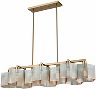 ELK 21114-10 Compartir Modern Polished Nickel / Satin Brass Kitchen Island Light