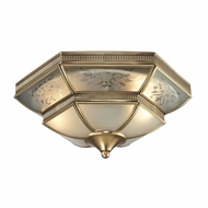 ELK 22005-2 French Damask Traditional Brushed Brass Overhead Lighting Fixture