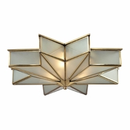 ELK 22011-3 Decostar Contemporary Brushed Brass Ceiling Light Fixture