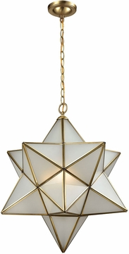 ELK 22017-3 Decostar Contemporary Brushed Brass Drop Ceiling Lighting
