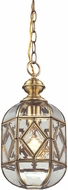 ELK 22025-1 Lavery Brushed Brass Mini Ceiling Light Pendant