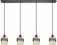 ELK 25122-4LP Whisp Contemporary Oil Rubbed Bronze Multi Pendant Light