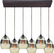 ELK 25122-6RC Whisp Modern Oil Rubbed Bronze Multi Lighting Pendant
