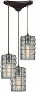ELK 25123-3 Murieta Modern Oil Rubbed Bronze Multi Hanging Lamp