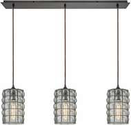 ELK 25123-3LP Murieta Modern Oil Rubbed Bronze Multi Pendant Light Fixture