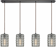 ELK 25123-4LP Murieta Contemporary Oil Rubbed Bronze Multi Pendant Lighting Fixture
