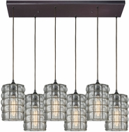 ELK 25123-6RC Murieta Modern Oil Rubbed Bronze Multi Hanging Pendant Lighting