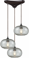 ELK 25124-3 Volace Modern Oil Rubbed Bronze Multi Pendant Hanging Light
