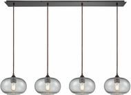 ELK 25124-4LP Volace Contemporary Oil Rubbed Bronze Multi Drop Ceiling Lighting