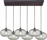 ELK 25124-6RC Volace Modern Oil Rubbed Bronze Multi Ceiling Light Pendant