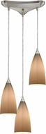 ELK 2584-3 Vesta Modern Satin Nickel Multi Drop Ceiling Light Fixture