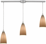 ELK 2584-3L Vesta Contemporary Satin Nickel Multi Drop Lighting Fixture