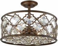 ELK 31092-4 Armand Weathered Bronze Flush Ceiling Light Fixture