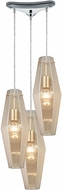 ELK 31215-3 Pelham Modern Polished Chrome Multi Drop Ceiling Light Fixture